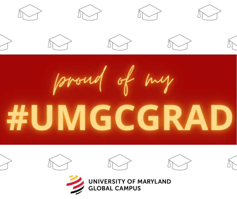 Proud of my #UMGCGRAD: Social media toolkit image 1 for Facebook feed posts