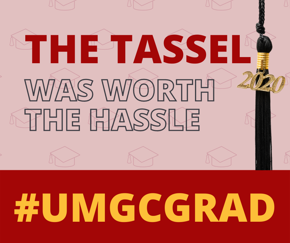 The tassel was worth the hassle #UMGCGRAD: Social media toolkit image 4 for Facebook feed posts