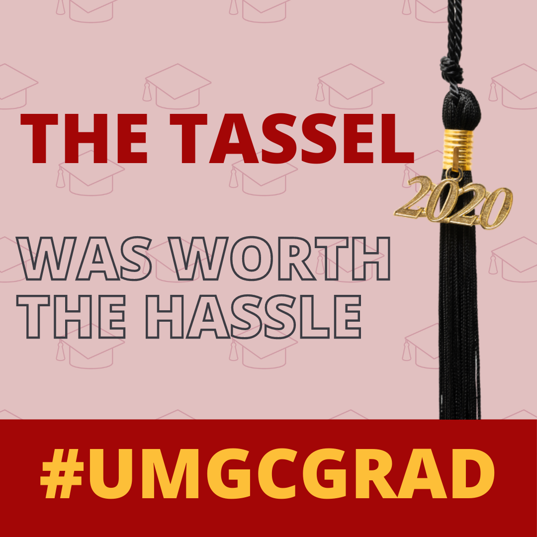 The tassel was worth the hassle #UMGCGRAD: Social media toolkit image 4 for Instagram feed posts
