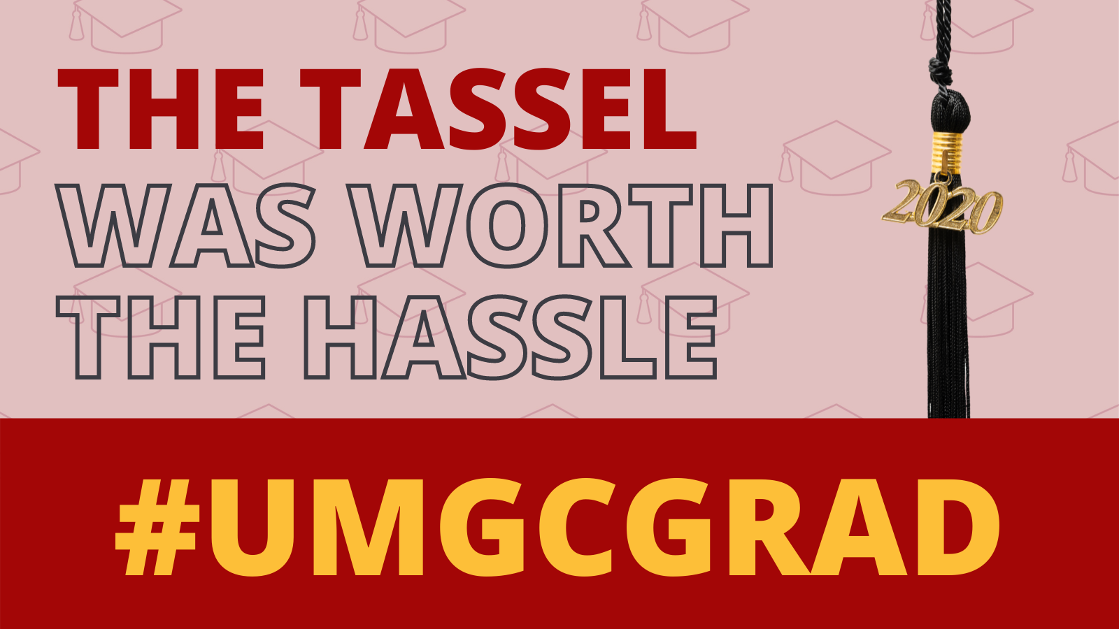 The tassel was worth the hassle #UMGCGRAD: Social media toolkit image 4 for Twitter feed posts